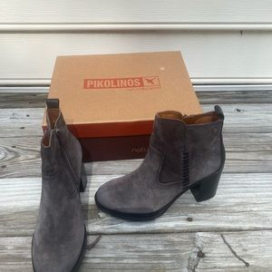 New PIKOLINOS WOMENS ANKLE SUEDE BOOTS Sz 38